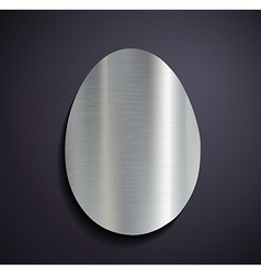 Flat metallic logo egg vector