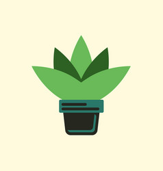 Flower in a pot icon house pot plant vector