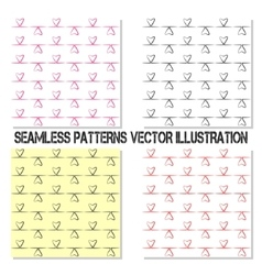 Four seamless pattern vector image