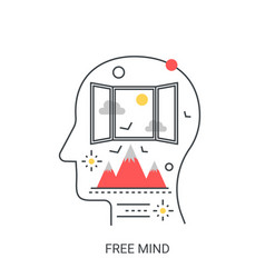 free mind concept vector image