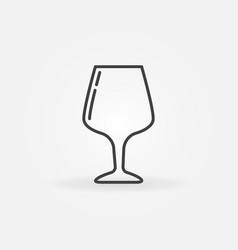 glass thin line icon vector image