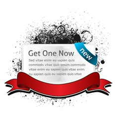 Glossy banner with grunge vector