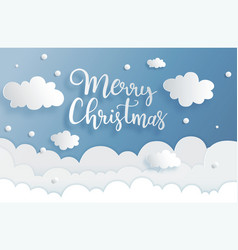 Hand drawn lettering merry christmas greeting vector