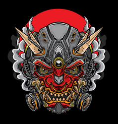 Japanese hannya oni mask vector