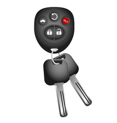 key and key ring to car vector image