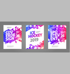 Layout poster template design for sport event 2019 vector