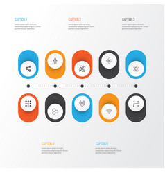 Learning icons set collection of lightness mode vector