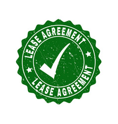 lease agreement scratched stamp with tick vector image