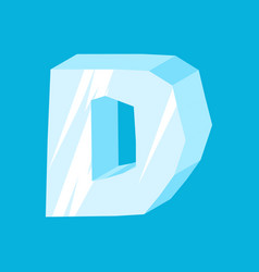 letter d ice font icicles alphabet freeze vector image