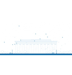 Linkoln memorial outline vector