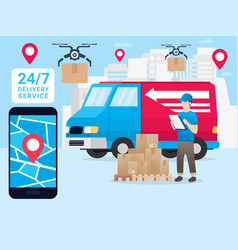 logistic delivery vector image