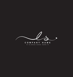 Ls initial signature logo handwritten logo vector