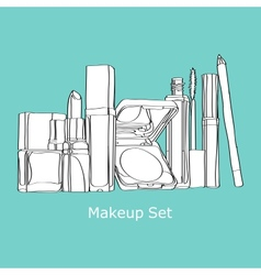 makeup set cosmetics Set vector image