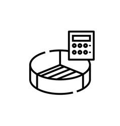 Market statistics line icon concept sign outline vector