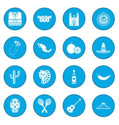 mexico icon blue vector image