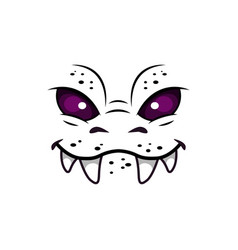 monster face isolated icon cartoon emotion vector image