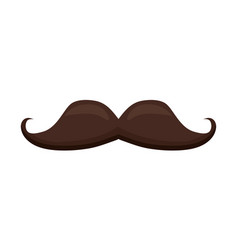 Moustache hipster icon vector