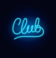 neon club fashion sign night light signboard vector image