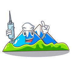 Nurse miniature mountain in the character form vector