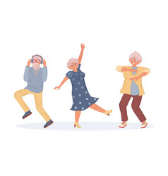 old dancing people an elderly man and woman vector image