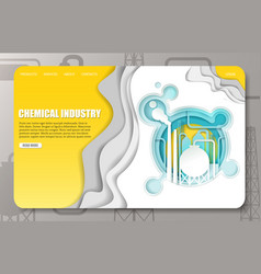 paper cut chemical industry landing page vector image