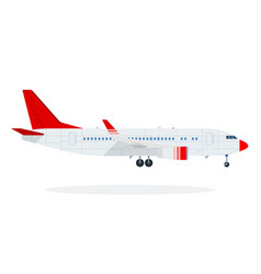 passenger plane flat material design isolated vector image