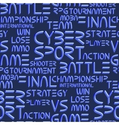 Pattern with cyber sport words vector