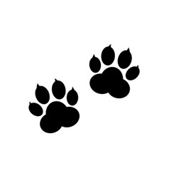 Paw print isolated on white background vector