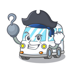 Pirate ambulance character cartoon style vector