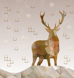 Polygonal style deer design vector