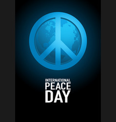 poster design for international day peace vector image
