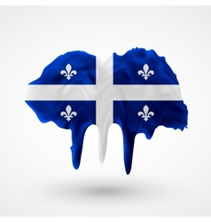 Quebec flag painted colors vector
