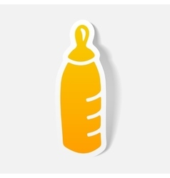 realistic design element baby bottle vector image