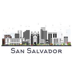 san salvador city skyline with gray buildings vector image