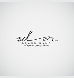 Sd initial letter logo - handwritten signature vector