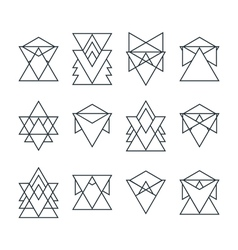 Set of trendy geometric icons Geometric hipster vector