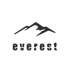 simple modern mountain logo design vector image