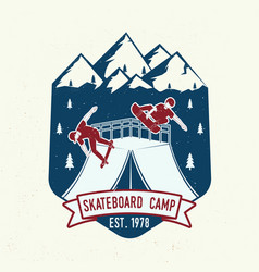 Skateboard camp badge vector