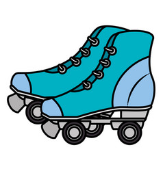 skates old isolated icon vector image