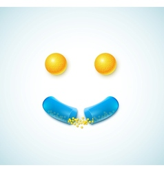 smile pills vector image