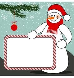 Snowman billboard vector