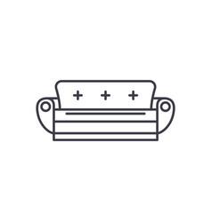 sofa line icon concept sofa linear vector image