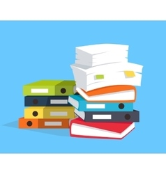 stack papers vector image