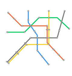 subway omnichannel metro map omni channel tube vector image