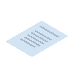 text paper icon isometric style vector image