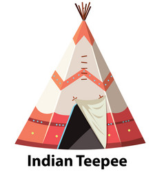 Traditional indian teepee on white background vector