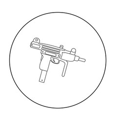 uzi weapon icon outline single weapon icon from vector image
