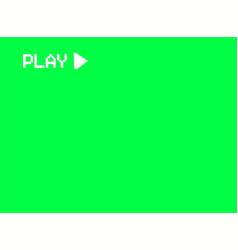 Vhs play screen a videotape player retro 80s vector