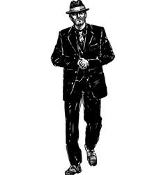 vintage gangster vector image