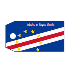 Cape verde flag on price tag vector